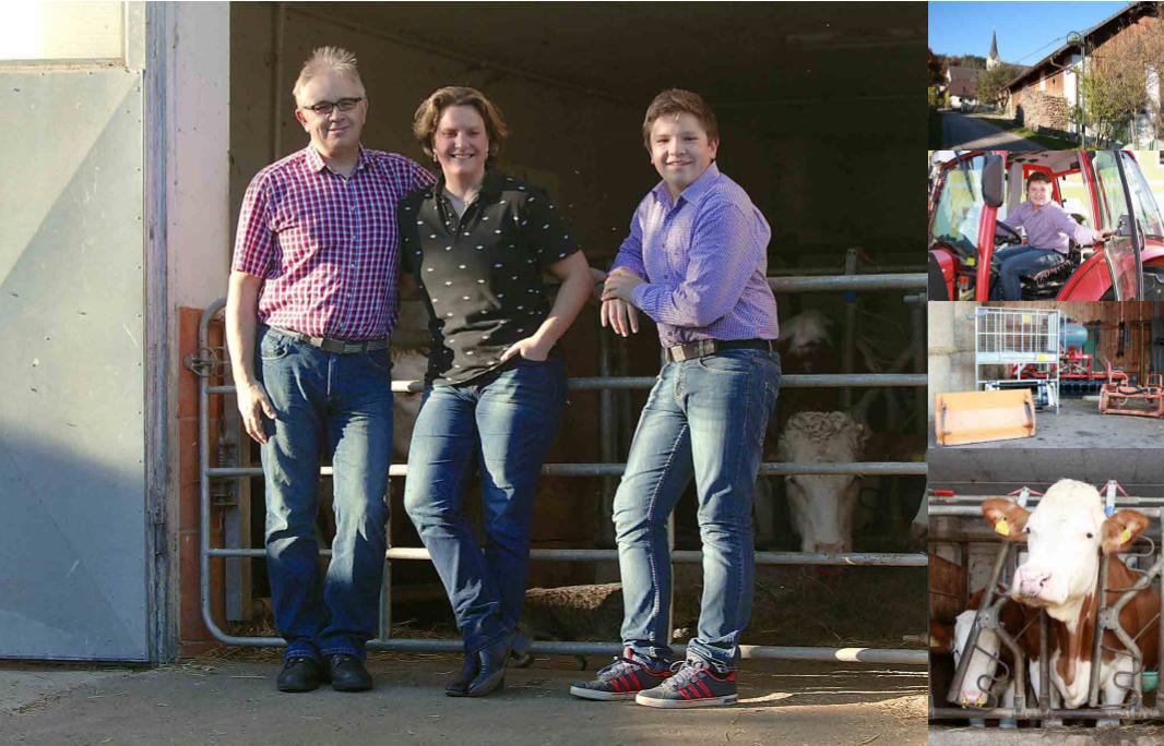 Tomi, Eva in Florian Ogris, Bauernhof Pibru