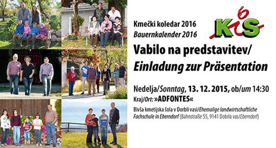 Einladung zur Präsentation – Bauernkalender 2016