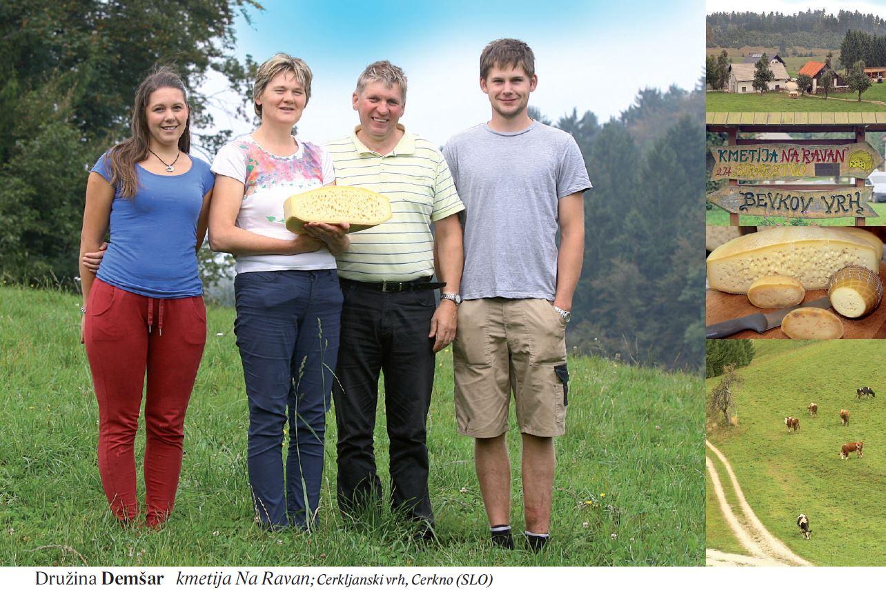 Družina Demšar kmetija Na Ravan; Cerkljanski vrh, Cerkno (SLO)