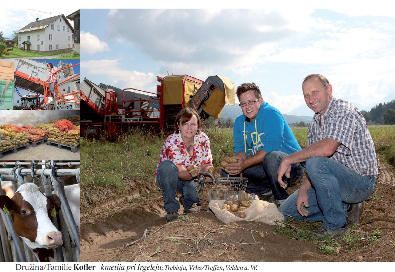 Družina/Familie Kofler kmetija pri Irgeleju; Trebinja, Vrba/Treffen, Velden a. W.