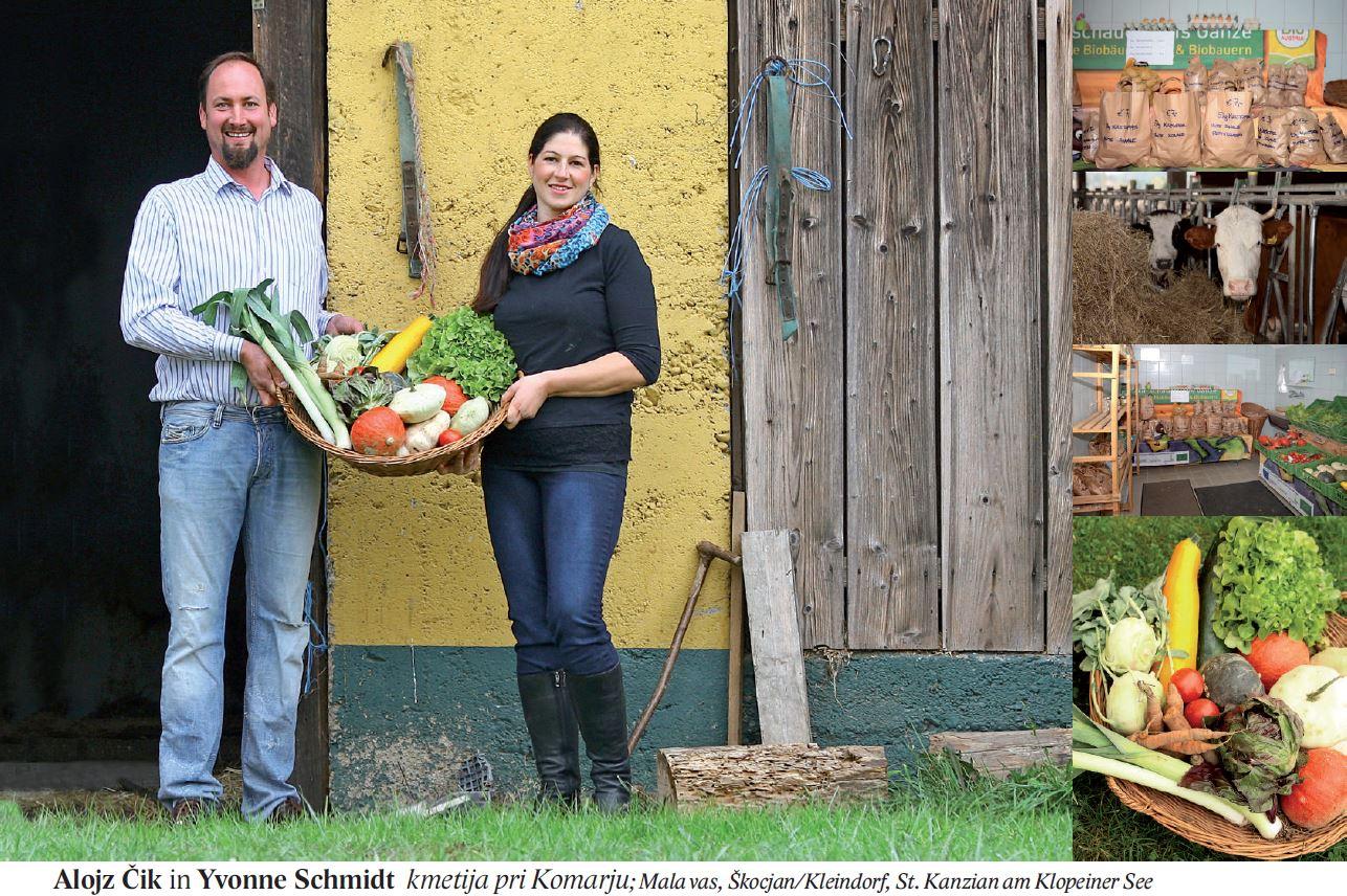 Alojz Čik in Yvonne Schmidt kmetija pri Komarju; Mala vas, Škocjan/Kleindorf, St. Kanzian am Klopeiner See