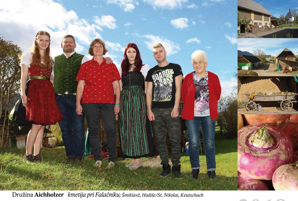 Družina Aichholzer, kmetija pri Falačniku Šmiklavž, Hodiše/St. Nikolai, Keutschach