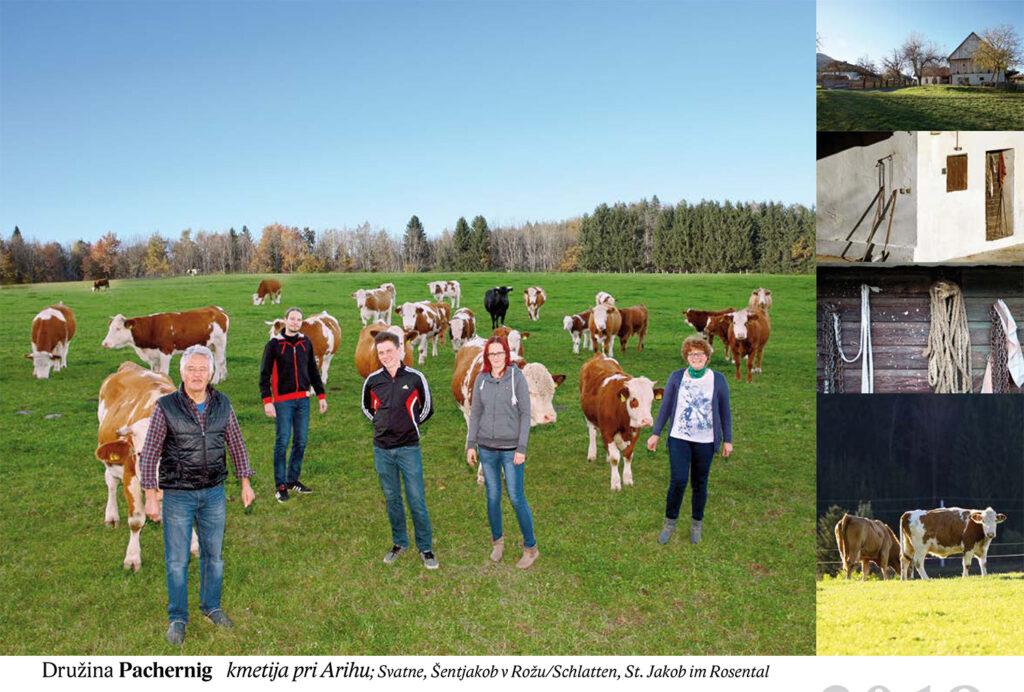 Družina Pachernig, kmetija pri Arihu Svatne, Šentjakob v Rožu/Schlatten, St. Jakob im Rosental